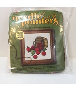 "Apple Basket Needlepoint Kit Needle Pointers 5"" x 5"" Opened - $9.74"