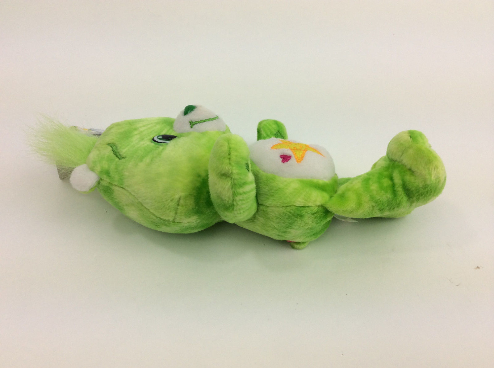 "Care Bear Tie Dye Oopsy Bear Green Plush 2007 Special Edition Series 1  8"" NEW"