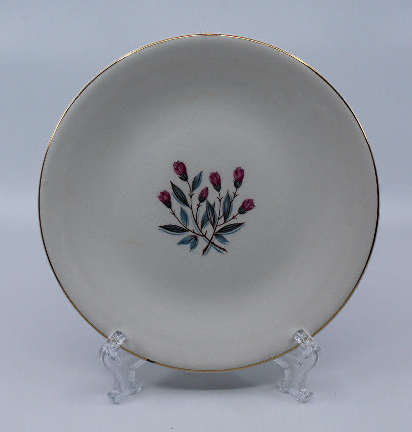 Enoch wedgwood tunstall ltd Bread and Butter Side Plate Pink Flower 17.5 cm image 3