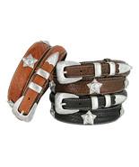 """American Bison Genuine Leather Horse Ranger Golf Belt, Size 32""""-50"""" - $46.48+"""
