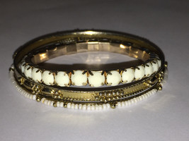 Vintage bracelet lot two bangles and one stretchy - $9.00