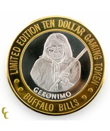 Geronimo Buffalo Bills Casino Gaming Token .999 Argent Édition Limitée - $59.34