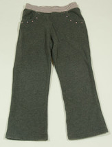 GYMBOREE GIRLS SIZE 5 PANTS OODLES OF POODLES PINK & GRAY YOGA RHINESTONES - $10.54