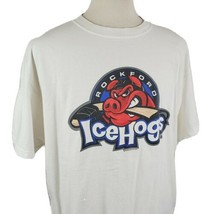 Rockford Ice Hogs T-Shirt Crew Neck Short Sleeve XL AHL Hockey Hammy Logo  - $16.99