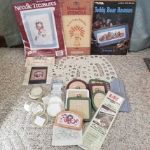 NEEDLE POINT LOT Craft supplies Large lot + kits - $16.00