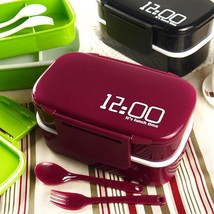 Double Layer Plastic Lunch Box Microwave Box Food Container Lunch Box Fo... - $21.99