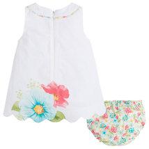 Mayoral Baby Girl 3M-24M Aquamarine/white Floral Print A-line Cotton Dress    image 3