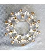 Avon Festive Wreath of Angels Christmas Brooch - $12.82