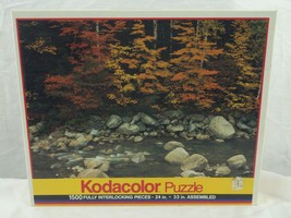 """Kodacolor Puzzle Pemigewasset River, NH 1500 Pieces 24"""" x 33"""" SEALED - $33.26"""