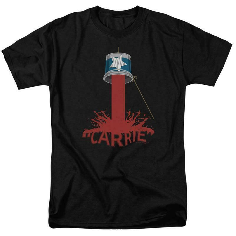 Carrie t shirt blood bucket 1970 s horror movie retro graphic tee mgm319
