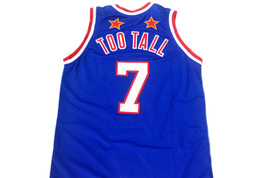 Too Tall #7 Harlem Globetrotters Men Basketball Jersey Blue Any Size image 5