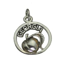 Georgia Peach State Sterling Silver Charm Jewelry - $17.04