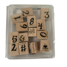 Stampin Up Rubber Stamps Numbers (Not Complete Set / Extras) 14 Stamps - $10.00