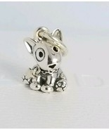 NEW/TAGS AUTHENTIC PANDORA SILVER CHARM BULL TERRIER PUPPY DANGLE #79801... - $23.56