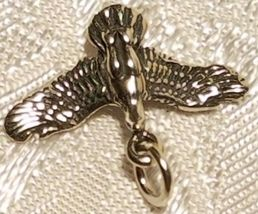 Duck  Flying Bird STAMPED 925 STERLING SILVER CHARM image 4