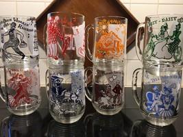 Vtg Swanky Swig Set Of Glasses Mugs Nursery Rhyme Lyrics Complete Set of 8 - $44.55
