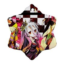 Anime No Game No Life Sora Shiro Procelain Ornaments (Snowflake) Christmas - $6.95
