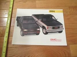 GMC Truck 1991 Poster Car truck Dealer Showroom Sales Brochure - $9.99