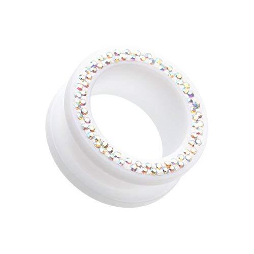Primary image for Multi-Sprinkle Dot Neon Acrylic Flesh Tunnel WildKlass Ear Gauge Plug (Sold as P