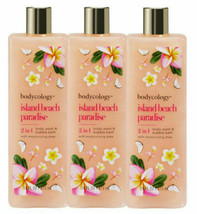 LOT 3 Bodycology 2-in-1 Body Wash & Bubble Bath, Island Beach Paradise 1... - $39.59
