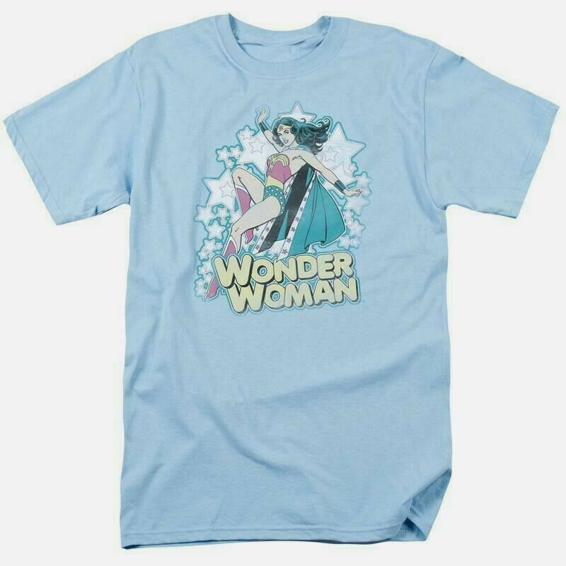Wonder woman t shirt distressed dc comic book batman superhero cotton tee dco468