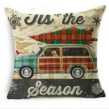Home Decor Christmas Pillow Cases Cotton Linen Sofa Cushion Cover TkOwn2... - $19.80