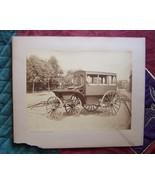 Original Funeral Horse Drawn Hearse Large Photo - $79.00