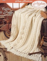 Cables & Puffs Aran Heirlooms Afghan TNS Crochet Pattern/Instructions NEW - $2.67