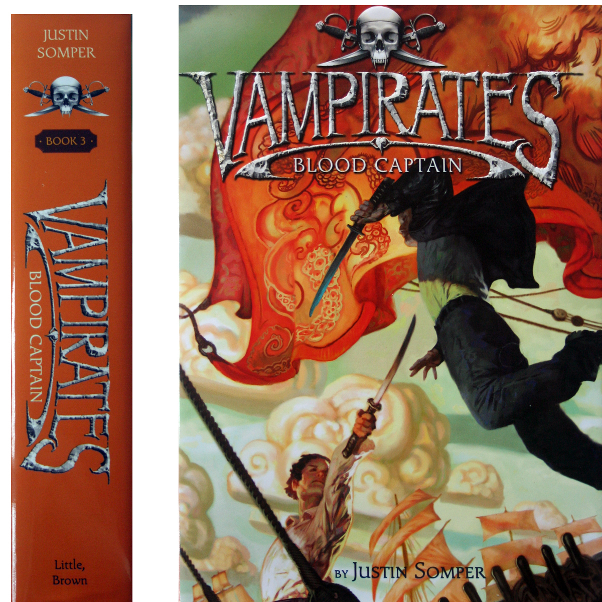 Vampirates 3: Blood Captain by Justin Somper 1st HC/DJ