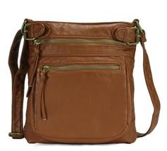 Scarleton Tri Zip Belt Accent Crossbody Bag H198404 - Brown - $17.17