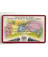 B&O Railroad VTG Playing Card Map Tracks Linking 13 Great States w/Natio... - $9.85