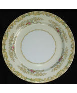 Noritake Dinner Plate N93 Tan Border Floral Sprays Gold Trim MINT (4) Fr... - $19.95