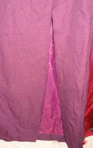 Purple Burgundy Wedding Bridesmaid Prom Dress Gown