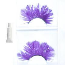Handmade feather Purple Blue False Eyelashes Eyelash UK - $5.41