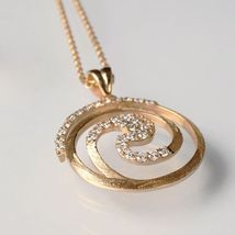 925 Silver Necklace Laminate Yellow Gold, Rhodium by Maria ielpo Made in Italy image 3