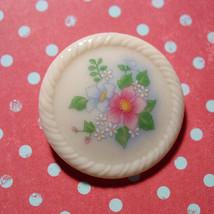 Porcelain Avon Brooch With Flower Design Spring Bouquet - Vintage 1984  - $7.91