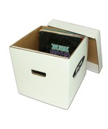 (2) BCW 33 1/3 RPM Vinyl Record Cardboard Storage Box Holds Approx. 65 LP - $28.31
