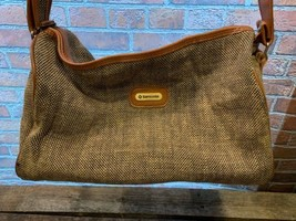 Vintage Tweed SAMSONITE Bag Shoulder Purse Travel - $24.74