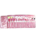 18 pcs Pink Mineral Goat Hair brushes makeup Set Kit - $9.88