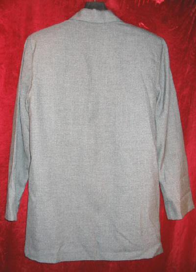 Womens Logo Gray Suit Sports Jacket Sz Small
