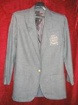 Womens Logo Gray Suit Sports Jacket Sz Small - $25.00