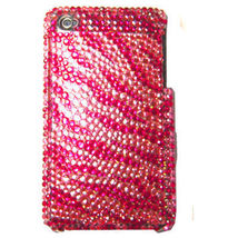 BLING PINK ZEBRA SHELL COVER CASE for iPod Touch 4th 4 - $7.35