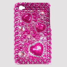BLING PINK HEART SHELL COVER CASE for iPod Touch 4 4th - $7.35