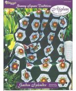 Garden Splendor Afghan~Granny Square Crochet Pa... - £1.62 GBP