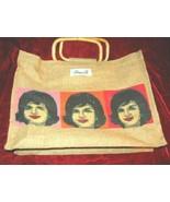 Nice Diane B. Straw Hand Bag w/ Jackie Onassis JFK - $11.99