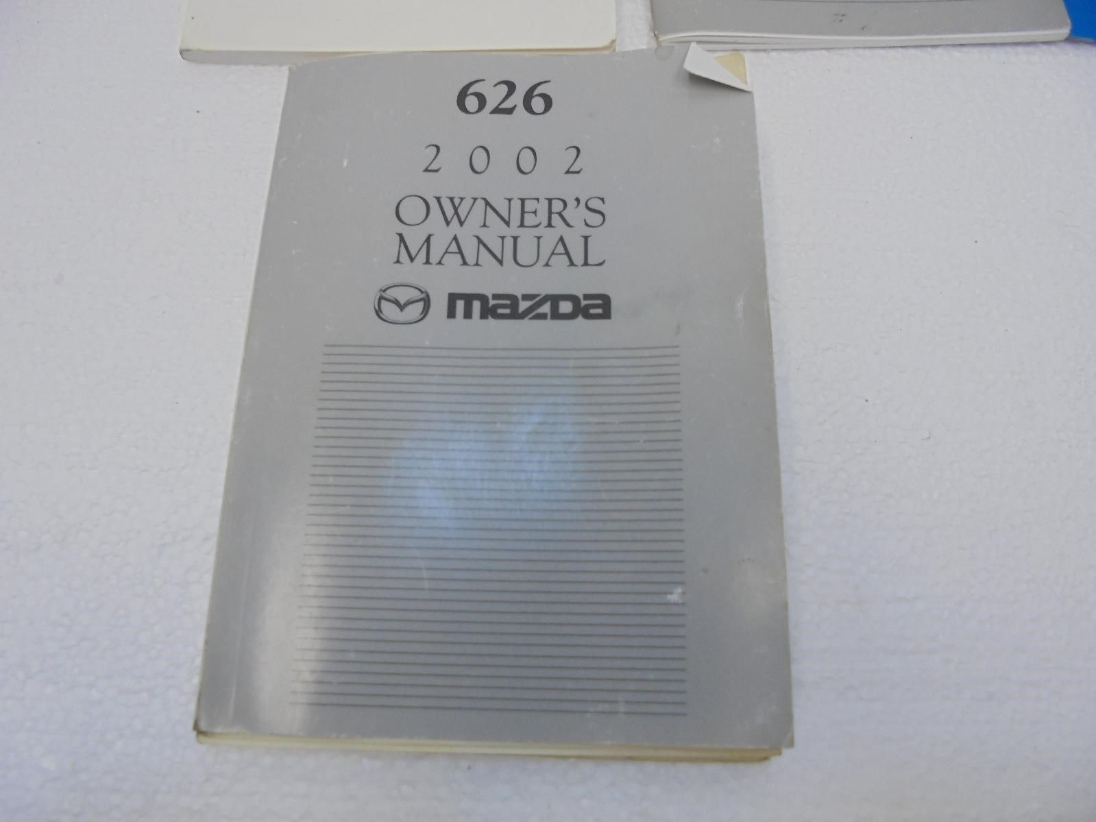 ... 2002 Mazda 626 Owners Manual Operators Book ...