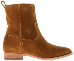 NEW FRYE Women's Wheat Brown Suede Leather Short Cara Boots 3478321-WHE NIB image 4