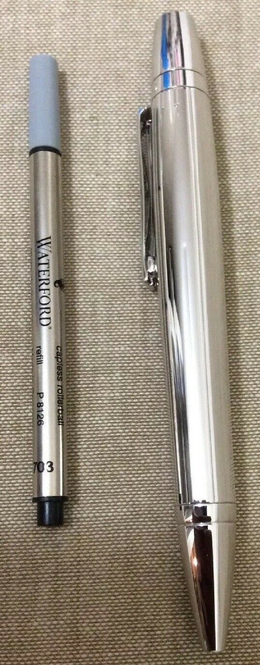 Waterford Writing Instruments Kilbarry Pen Grooved Platinum Convertible RB / BP