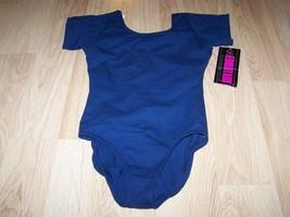Size Medium 7-10 Eurotard Solid Navy Blue Dance Gymnastics Leotard New NWT - $18.00