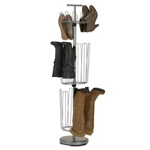 Metal Shoe Tree Boot Shapers Adjustable 12 Pair 6 Holder Support Stand S... - $84.14